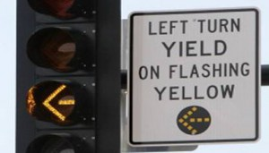 Yellow Flashing Arrows